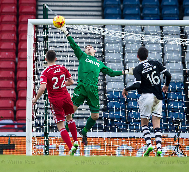 Radoslaw Cierzniak saves from Ryan Jack