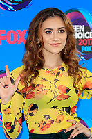 LOS ANGELES - AUG 13:  Alyson Stoner at the Teen Choice Awards 2017 at the Galen Center on August 13, 2017 in Los Angeles, CA