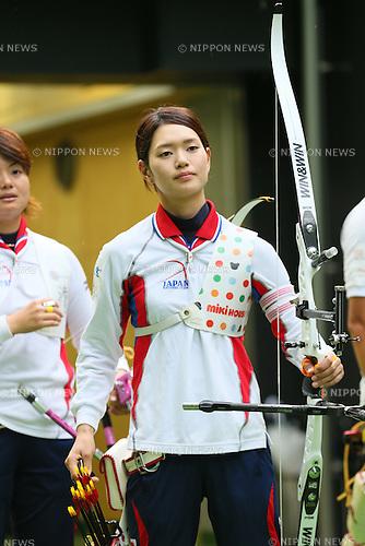 Kaori Kawanaka (JPN), <br /> JULY 18, 2015 - Archery : <br /> Japan National Team Training <br /> for The World Archery Championships 2015 <br /> at JISS Archery Field, Tokyo, Japan. <br /> (Photo by YUTAKA/AFLO SPORT)