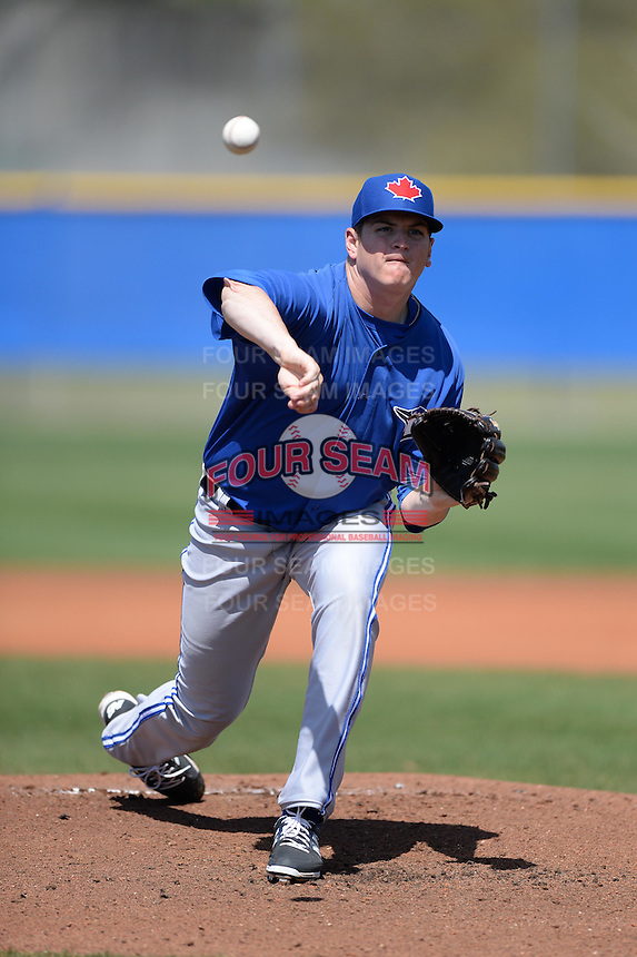 Toronto Blue Jays pitcher Jeremy Gabryszwski (51) during a minor league spring training game against the New York Yankees on March 16, 2014 at Englebert Minor League Complex in Dunedin, Florida.  (Mike Janes/Four Seam Images)
