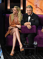 "BEVERLY HILLS - SEPTEMBER 7: Ireland Baldwin and Alec Baldwin appear onstage at the ""Comedy Central Roast of Alec Baldwin"" at the Saban Theatre on September 7, 2019 in Beverly Hills, California. (Photo by Frank Micelotta/PictureGroup)"