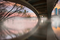 This image from downtown Austin shows the architecture of Lamar Bridge as it spans Lady Bird Lake. I tried to include a few of the buildings in the skyline as well as the graceful tree leaning out over the water.