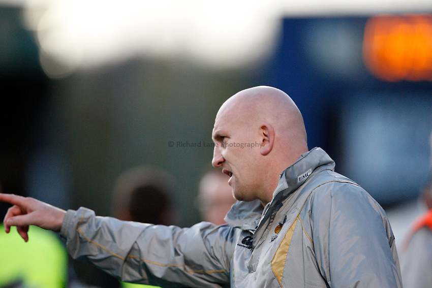 Photo: Richard Lane/Richard Lane Photography. London Wasps v Gloucester Rugby. LV= Cup. 15/11/2009. Wasps' head coach, Shaun Edwards.