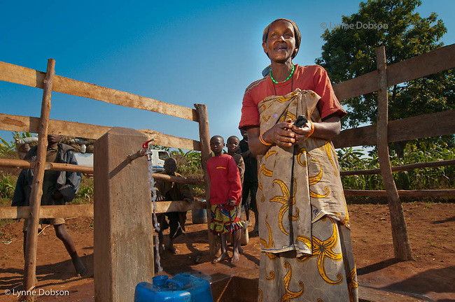 Virgin Nibaruta, collects water as often as she can so her children can attend school. Many children are not so lucky and must fetch water instead of attending school. Many African children start carrying water usually around age 6-7 years old.