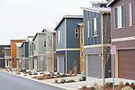 Street of Modern New Homes