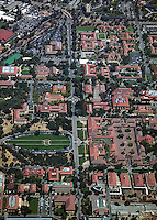 aerial photograph Stanford University
