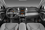 Straight dashboard view of a 2008 Toyota Rav4 Limited SUV Stock Photo