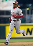 Cincinnati Reds' Ken Griffey runs towards third base after hitting  home run to right field against the Seattle Mariners in the fifth inning at Safeco Field in Seattle on June 24, 2007. Jim Bryant Photo. ©2010. ALL RIGHTS RESERVED.