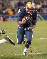 Pitt running back Quadree Ollison. The North Carolina Tar Heels football team defeated the Pitt Panthers 26-19 on Thursday, October 29, 2015 at Heinz Field, Pittsburgh, Pennsylvania.