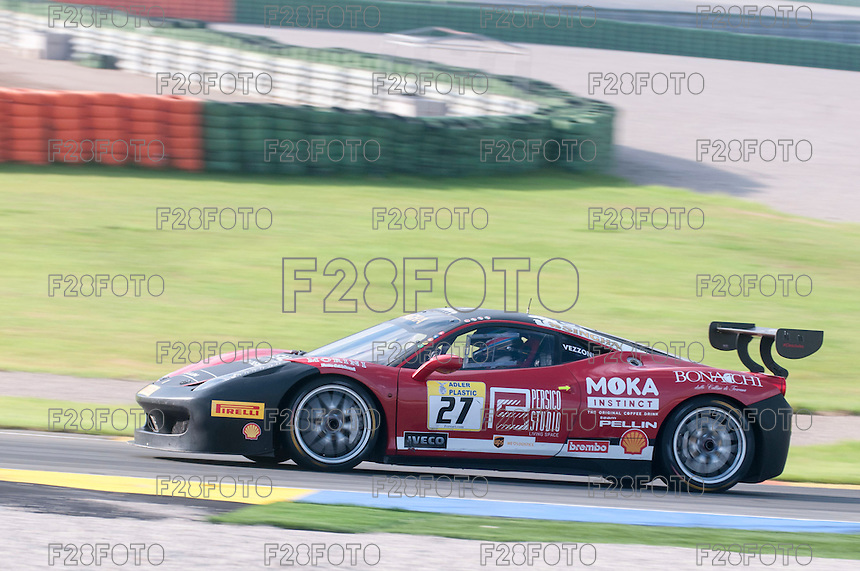 VALENCIA, SPAIN - OCTOBER 2: Alessandro Vezzoni during Valencia Ferrari Challenge 2015 at Ricardo Tormo Circuit on October 2, 2015 in Valencia, Spain