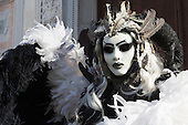 Venice, Italy, 9 February 2015. People wear traditional masks and costumes to celebrate the 2015 Carnival in Venice. carnivalpix/Alamy Live News