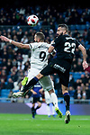 Karim Benzema of Real Madrid and Dimitrios Siovas of CD Leganes during King's Cup 2018-2019 match between Real Madrid and CD Leganes at Santiago Bernabeu Stadium in Madrid, Spain. January 09, 2019. (ALTERPHOTOS/Borja B.Hojas)