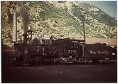 C-25 #375 in yard.<br /> D&amp;RGW  Durango, CO