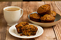 Morning Glory muffins served with coffee