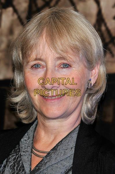 GEMMA JONES .at the Crime Thriller Awards, Grosvenor House Hotel, London, England, UK, October 21st 2009..portrait headshot black grey gray smiling .CAP/PL.©Phil Loftus/Capital Pictures.
