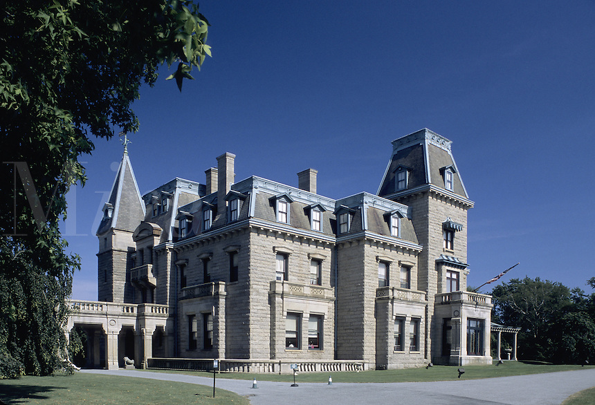 Newport, Rhode Island.The Chateau Sur Mer a mansion built during Newport's golden ag