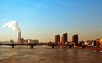 London: Battersea Bridge. Chelsea Reach of Thames from Albert Bridge.