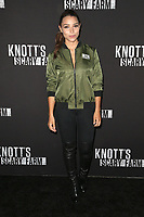 BUENA PARK, CA - SEPTEMBER 29:  Jessica Parker Kennedy at Knott's Scary Farm & Instagram's Celebrity Night at Knott's Berry Farm in Buena Park, California on September 29, 2017. Credit: Faye Sadou/MediaPunch