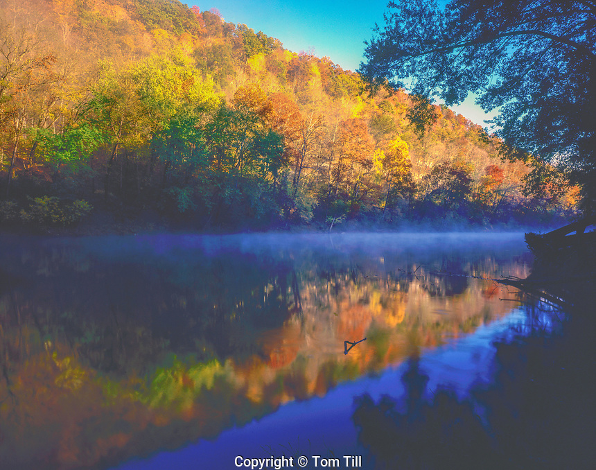 Green River,  Mammoth Cave National Park, Kentucky   Southern Appalachian Mountains