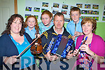 Musicians and dancers preparing for the concert in aid of Currow Rural Development and Comhaltas which will be held in Currow Community Centre on 21st Novemberl-r: Helen Blanchfield, Claire Fitzgerald, Sorcha O'Connor, Peter O'Connor, Luke and Kay Fitzgerald