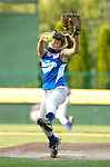 Clinton pitcher in the Little League Softball 11 and 12 year old district championship.