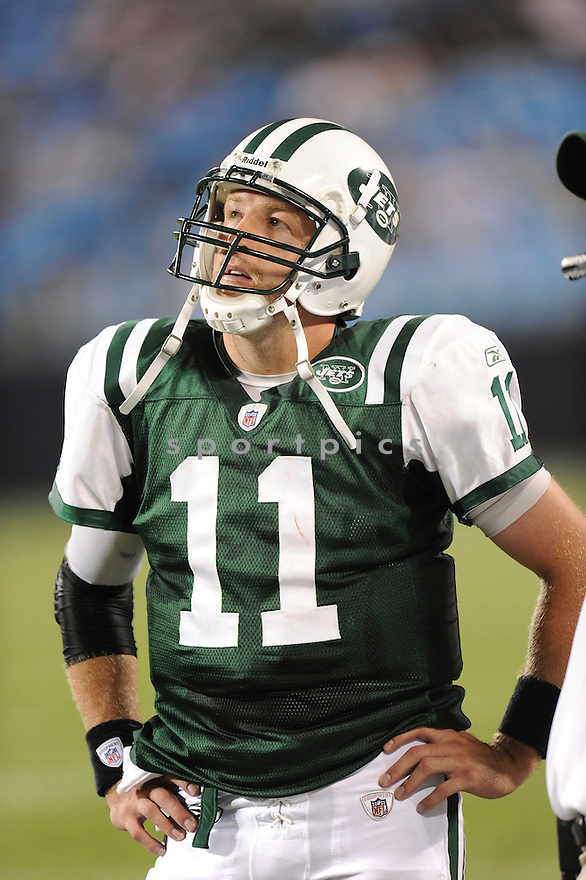 KELLEN CLEMENS, of the New York Jets in action during the Jets game against the Carolina Panthers  at Bank of America Stadium in Charlotte, N.C.  on August 21, 2010.  The Jets beat the Panthters 9-3 in the second week of preseason games...