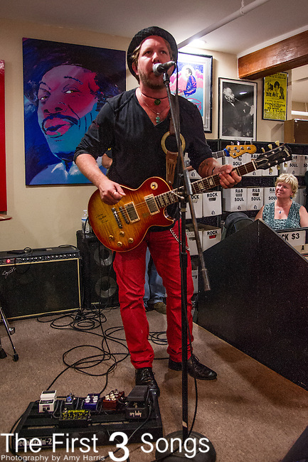 Devon Allman of the Royal Southern Brotherhood performs at Louisiana Music Factory in New Orleans, LA.