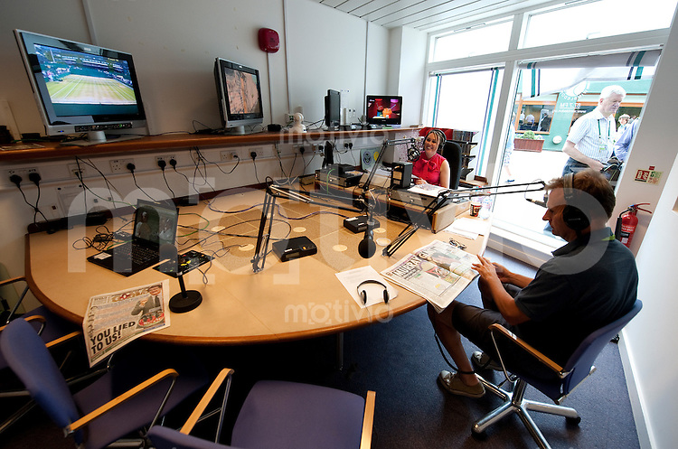 Radio Wimbledon. The Wimbledon Championships 2010 The All England Lawn Tennis & Croquet Club  Day 8 Tuedsday 29/06/2010