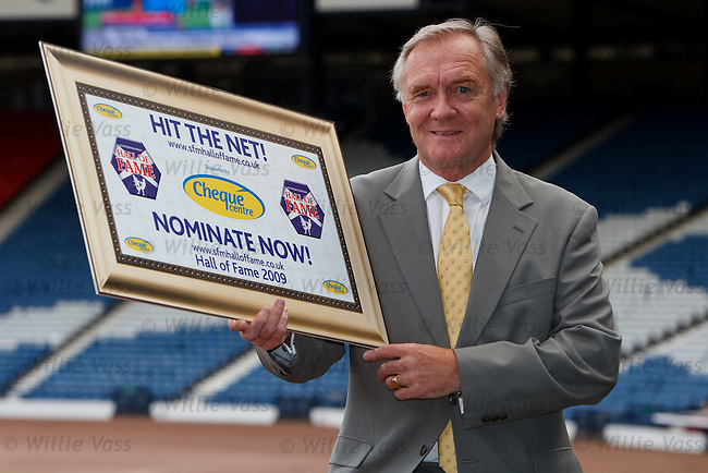 Davie Hay at Hampden launching this season's search for the Scottish Football Hall of Fame inductees