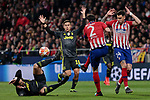 Atletico de Madrid's XXX and Juventus' XXX during UEFA Champions League match, Round of 16, 1st leg between Atletico de Madrid and Juventus at Wanda Metropolitano Stadium in Madrid, Spain. February 20, 2019. (ALTERPHOTOS/A. Perez Meca)