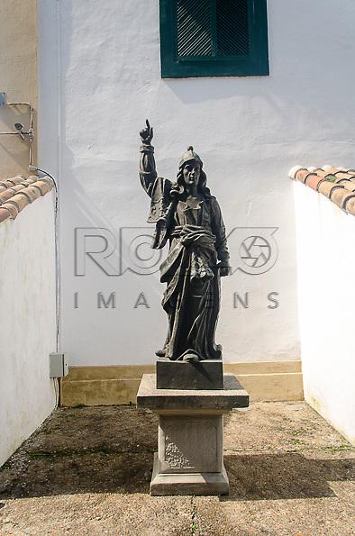 Réplica da escultura do Profeta Abdias, de Aleijadinho (1730-1814). Acervo do Museu de Arte Sacra de São Paulo, São Paulo - SP, 02/2013.