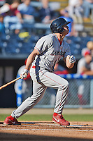 Lakewood BlueClaws right fielder Dylan Cozens #8 swings at a pitch during a game against the Asheville Tourists at McCormick Field on May 3, 2014 in Asheville, North Carolina. The BlueClaws defeated the Tourists 7-4. (Tony Farlow/Four Seam Images)