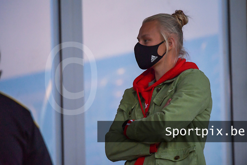 Ella Van Kerkhoven pictured during a female soccer game between  AA Gent Ladies and Eendracht Aalst on the second matchday of the 2020 - 2021 season of Belgian Scooore Womens SuperLeague , friday 4 th of september 2020  in Oostakker , Belgium . PHOTO SPORTPIX.BE | SPP | STIJN AUDOOREN