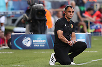 Belgium coach Johan Walem  looks on<br /> Reggio Emilia 16-06-2019 Stadio Città del Tricolore <br /> Football UEFA Under 21 Championship Italy 2019<br /> Group Stage - Final Tournament Group A<br /> Poland - Belgium<br /> Photo Cesare Purini / Insidefoto