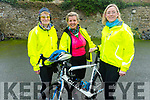 Sheila Twomey, Colette Short and Hazel Nix all set for the Jimmy Duffy Memorial Cycle on Saturday.