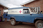 One of the three ambulances available for emergency evacuations to the regional hospital of Ruhengeri. Only three ambulances are available for a population of 300,000 people. District of Burera, Rwanda