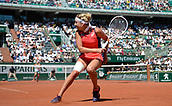 8th June 2017, Roland Garros, Paris, France; French Open tennis championships;  Timea Bacsinszky (Sui) as she loses her ladies singles semi-final to Jelena Ostapenko (Lat)