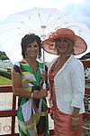 Ann Marie Duff and Linda Flynn at Bellewstown races.Picture Fran Caffrey www.newsfile.ie