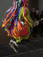 Kehrer beim Umzug des Nassereither Schellerlauf, Fasnacht in Nassereith, Bezirk Imst, Tirol, &Ouml;sterreich, Europa, immaterielles UNESCO Weltkulturerbe<br /> Kehrer at parade of  Nassereither Schellerlauf-Fasnacht, Nassereith, Tyrol, Austria Europe, Intangible World Heritage