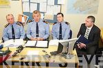 GARDAI: Speaking to the media at the Garda Press Conference in Killorglin Garda Station on Monday, l-r: Superintendent Pat OSullivan, Superintendent John Gilligan of the Garda Press Office, Inspector Donal Ashe and Detective Sergeant Dan Keane.
