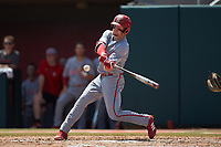 Brock Deatherage (13) of the North Carolina State Wolfpack at bat against the Northeastern Huskies at Doak Field at Dail Park on June 2, 2018 in Raleigh, North Carolina. The Wolfpack defeated the Huskies 9-2. (Brian Westerholt/Four Seam Images)