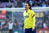 7th March 2020; Camp Nou, Barcelona, Catalonia, Spain; La Liga Football, Barcelona versus Real Sociedad; Antoine Griezmann of FC Barcelona during the warm up