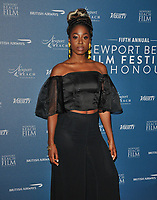 Kirby Howell-Baptiste at the Newport Beach Film Festival UK Honours, The Langham Hotel, Portland Place, London, England, UK, on Thursday 07th February 2019.<br /> CAP/CAN<br /> &copy;CAN/Capital Pictures