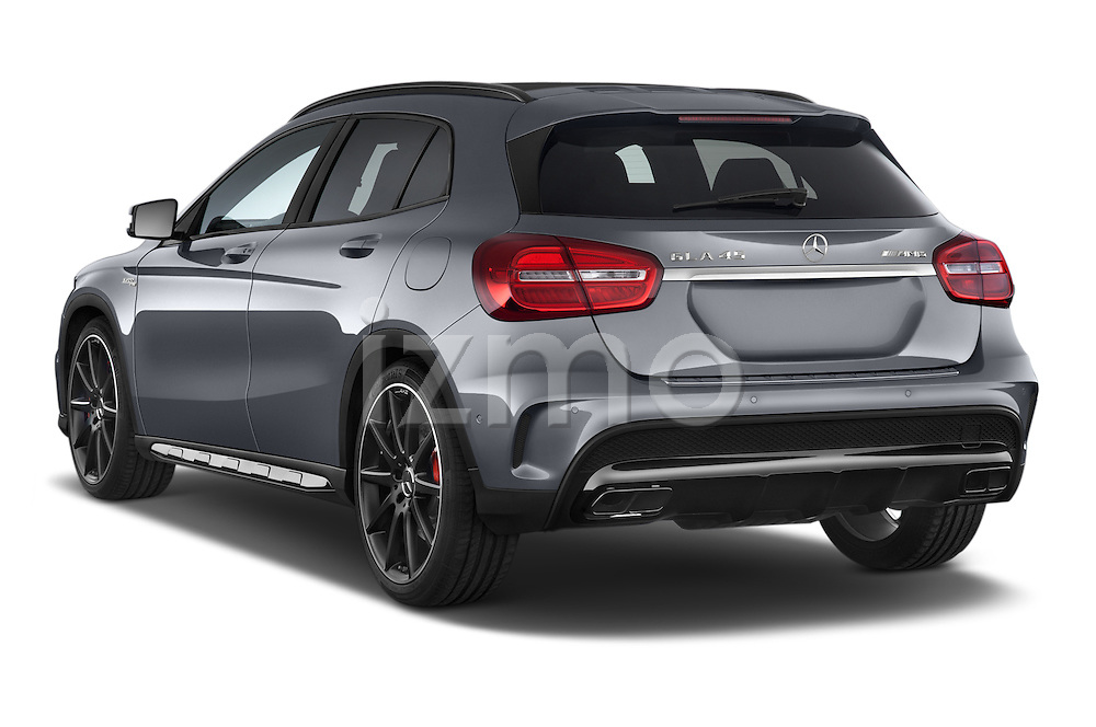 Car pictures of rear three quarter view of a 2015 Mercedes Benz GLA-KLASSE AMG 5 Door SUV Angular Rear