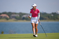 Cheyenne Knight (USA) sinks her birdie putt on 11 during round 4 of the Volunteers of America Texas Classic, the Old American Golf Club, The Colony, Texas, USA. 10/6/2019.<br /> Picture: Golffile | Ken Murray<br /> <br /> <br /> All photo usage must carry mandatory copyright credit (© Golffile | Ken Murray)