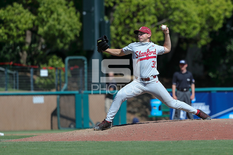 Stanford, CA - June 3, 2017:  Stanford Baseball wins over BYU 9-1 in a Regional elimination game at Sunken Diamond.