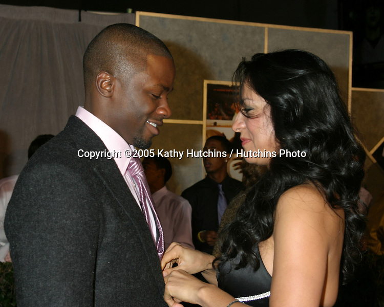 "Derek Luke & wife Sophia.""Glory Road"" Premiere.Pantages Theater.January 5, 2006.©2006 Kathy Hutchins / Hutchins Photo...."