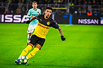 05.11.2019, Signal Iduna Park, Dortmund , GER, Champions League, Gruppenphase, Borussia Dortmund vs Inter Mailand, UEFA REGULATIONS PROHIBIT ANY USE OF PHOTOGRAPHS AS IMAGE SEQUENCES AND/OR QUASI-VIDEO<br /> <br /> im Bild | picture shows:<br /> Einzelaktion Jadon Sancho (Borussia Dortmund #7), <br /> <br /> Foto © nordphoto / Rauch