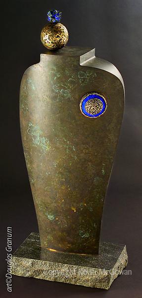 """Petite Jollie"", Fabricated bronze and granite sculpture by artist Douglas Granum;  www.douglasgranum.com"