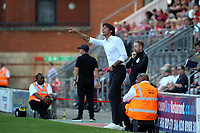 Crawley's manager Gabriele Cioffi and 2 goal hero Ollie Palmer during Leyton Orient vs Crawley Town